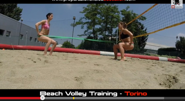 Beach Volley Training - Squat Double con LoopBand